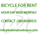 Bicycle for Rent, Bicycle Rental in Aonang Krabi Thailand